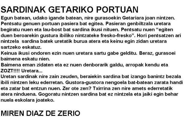 SARDINAK GETARIKO PORTUAN